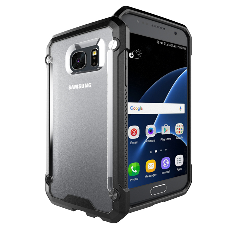 Hybrid Protection Case for Samsung Galaxy S7 S6 Edge Plus Cases Hard PC Flexible Soft Rubber TPU Bumper Back Cover