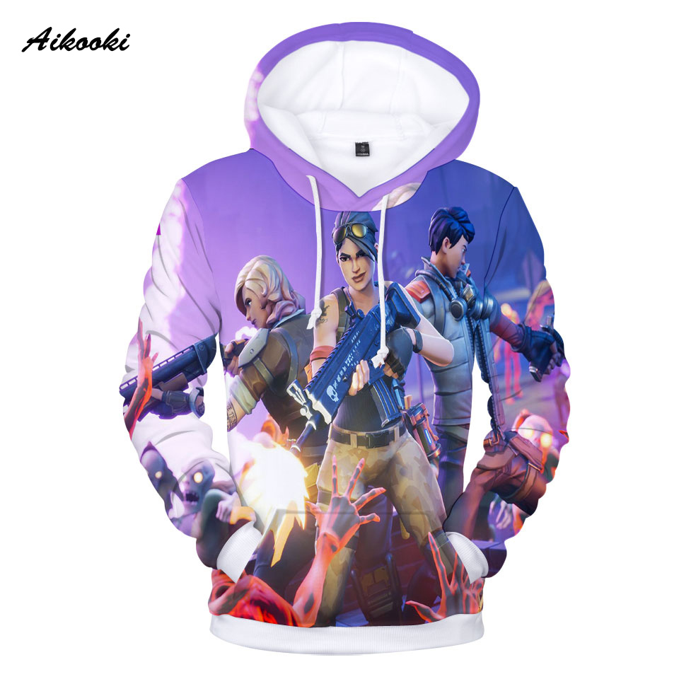Aikooki Hot Game Fortnite 3D Hoodies Men Sweatshirt Polluvers