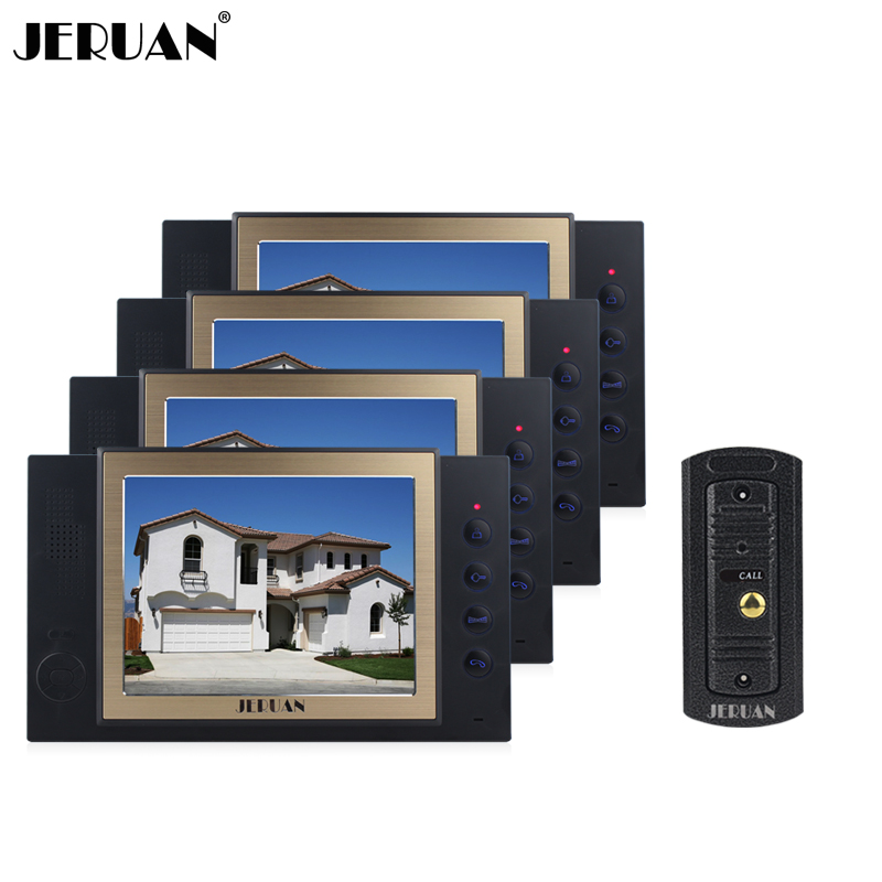 JERUAN 8 inch video door phone doorbell intercom system with video recording photo taking doorphone outdoor rain-proof jeruan home security system 2 outdoor 1 indoor with recording photo taking 8 inch video door phone doorbell intercom system
