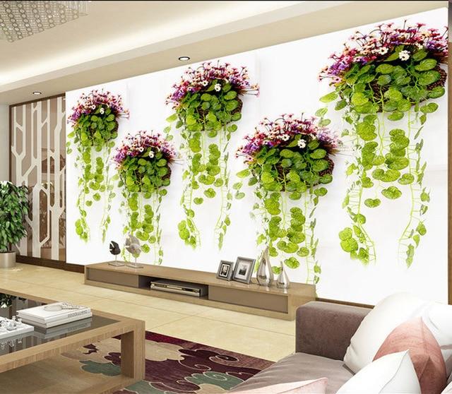 Natürliche Landschaft Fototapete Grünpflanzen Wandbild 40D Elegante Interesting Designer Decor