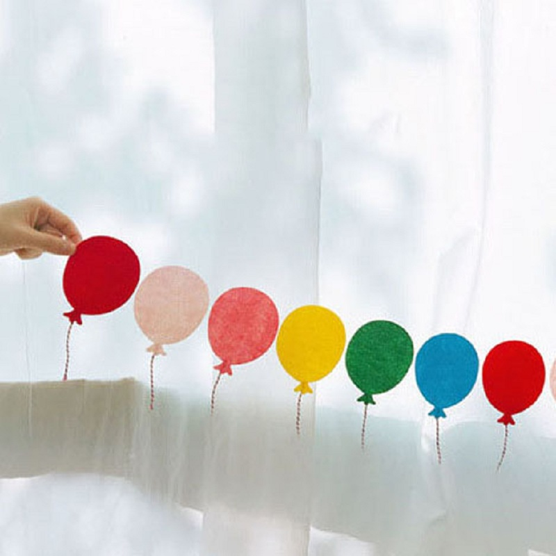 12pcs Lovely Balloon Paper Garland Banners Flag For Birthday Party Home Wall Hanging Kids Room Decoration Baby Shower Banner Banners Streamers Confetti Aliexpress