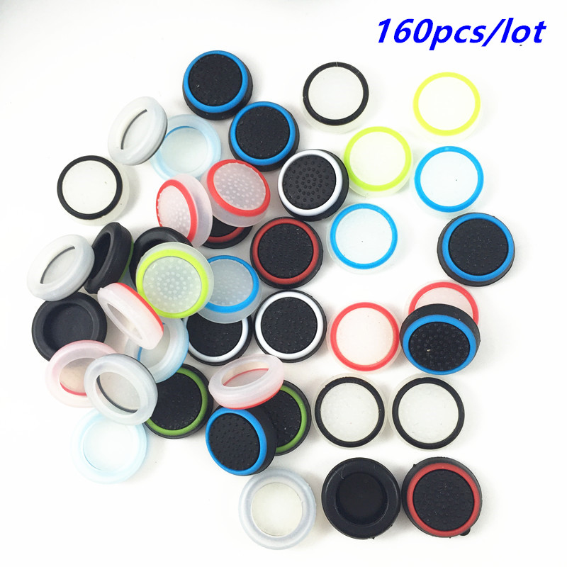 160pcs Silicone Analog Controller Thumb Stick Grips Cap Cover Grip for Sony Play Station 4 PS4 PS3 Xbox one 360 Thumbsticks