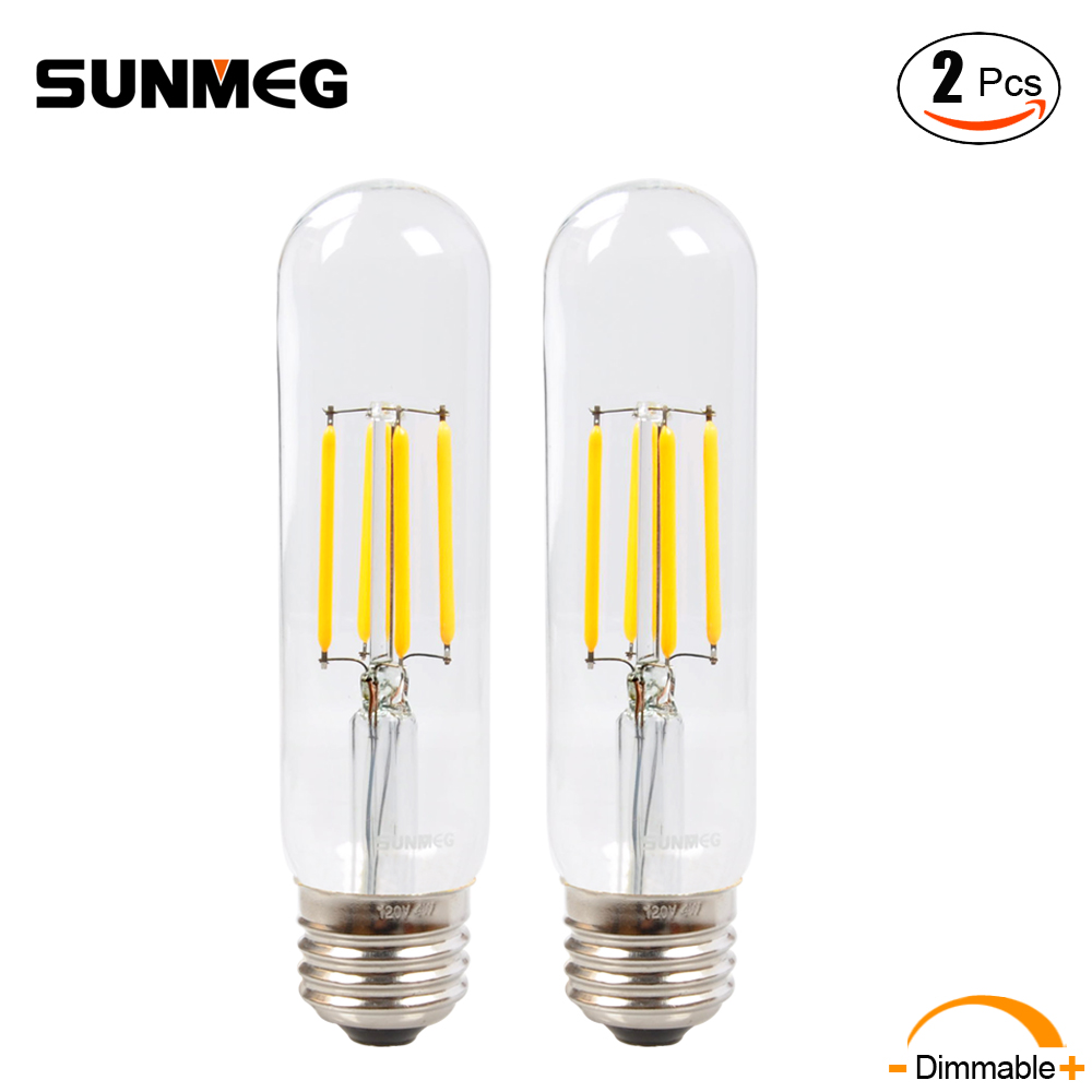 Sunmeg e26 led chandelier bulb t10125 4w long tubular filament lamp sunmeg e26 led chandelier bulb t10125 4w long tubular filament lamp 110v incandescent tube light 2700k warm white2pcslot in led bulbs tubes from lights arubaitofo Images