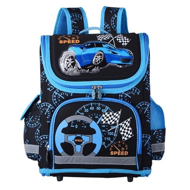 Children EVA Orthopedic Bag Girls Boys Mochila Escolar Car Cat Butterfly Printing Pupils School Bags Primary Backpack Book Bags
