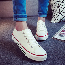 251309efd626 New Arrival Vulcanized Shoes Women Sewing Lace-up Man Woman Flat Solid Ladies  Canvas Shoes