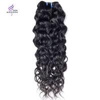 Modern Show Peruvian Water Wave Human Hair Weave Bundles 1 3 Pcs Only Natural Color None Remy Hair Extension 10 28 Free Shipping