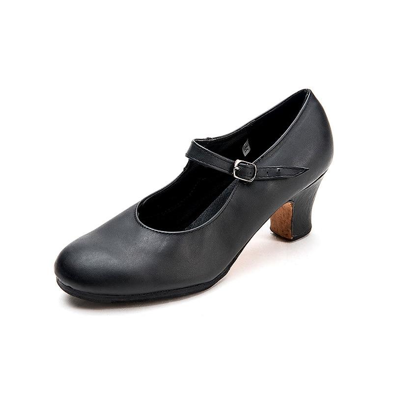 Image 2 - Sansha Professional Flamenco Character Dance Shoes 6CM Middle  High Heel For Women Ladies Black Dancing Shoes FL1CL FL1LSblack dance  shoesdance shoescharacter dance shoes