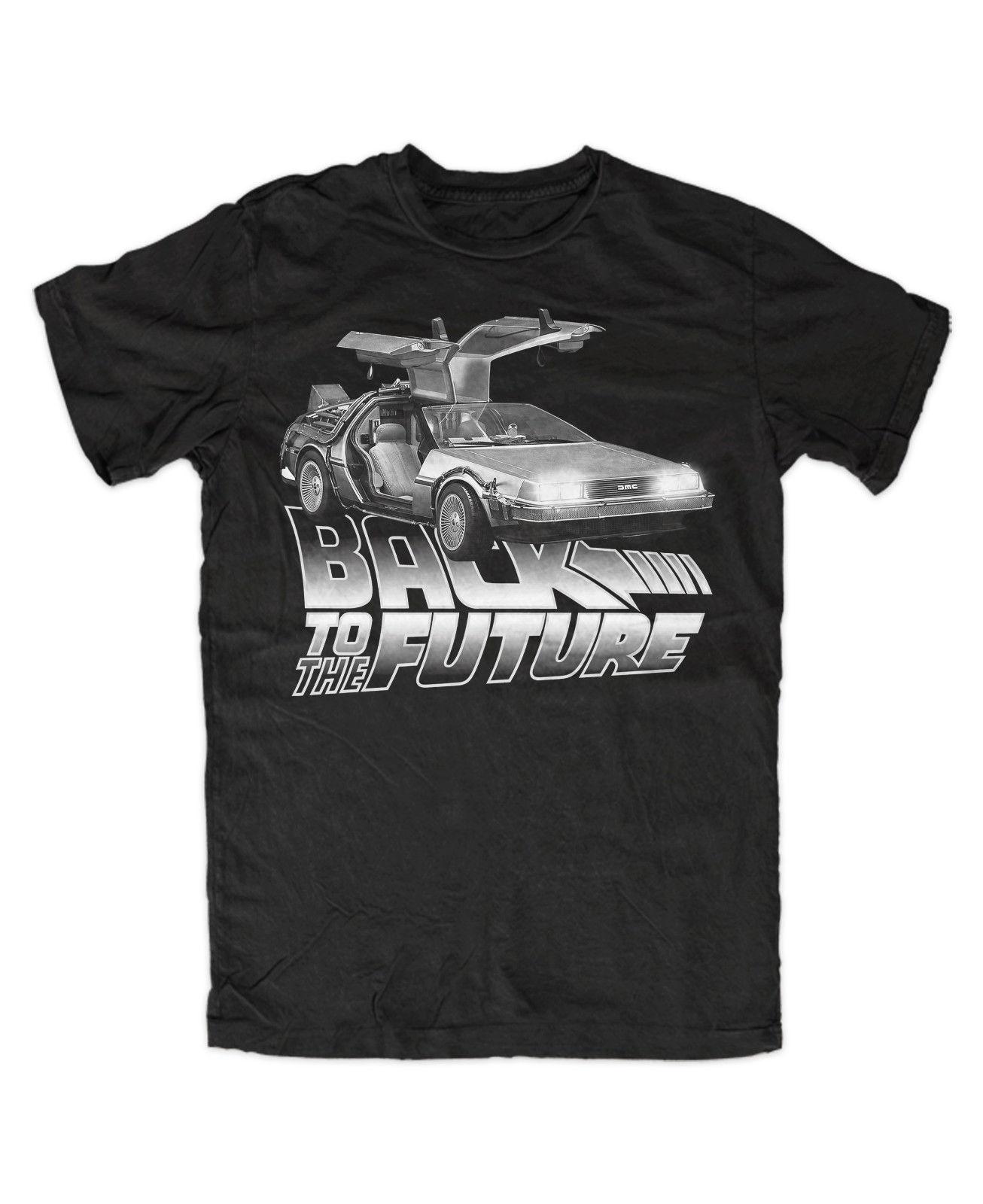DeLorean M3 T-Shirt Schwarz ,Back to the future,Timemachine,Doc,Mc Fly,Kult,Fun Print T Shirt Men Brand Clothing T-Shirt