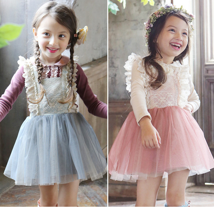baby girl kids clothes fashion children girls clothing sets 2 piece bodysuit princess lace cotton 2-7 yrs 2016 autumn new set fashion kids baby girl dress clothes grey sweater top with dresses costume cotton children clothing girls set 2 pcs 2 7 years