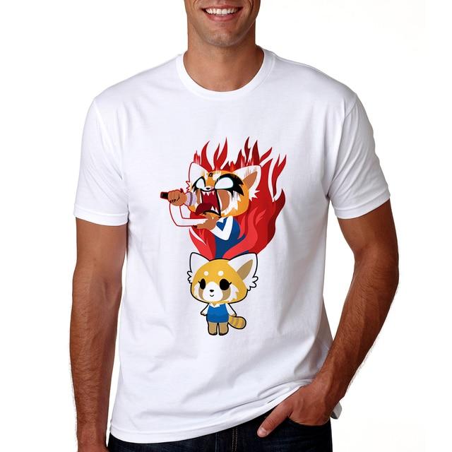 2018 Aggretsuko Tshirt Hommes Droles Aggretsuko T Shirt Manches