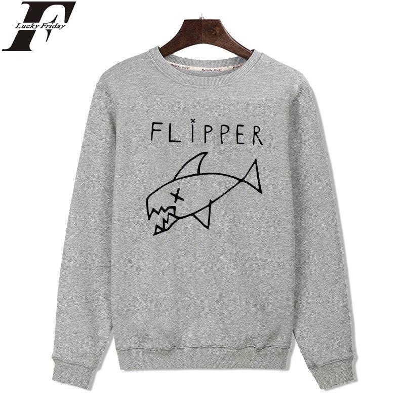LUCKYFRIDAYF Cartoon Flipper Fish New Hoodies Men Brand Designer Mens Sweatshirt Men In 3xl Harajuku Sweatshirt Autumn