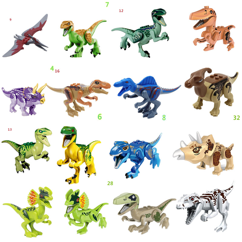 Cheap Sale 2019 New Dinosaur Kids Juguetes Compatible Bricks Toys Building Blocks Dinosaurs Jurassic Park World For Children Gift Model Building