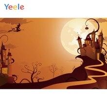 Yeele Halloween Photocall Castle Moon Customized Photography Backdrops Personalized Photographic Backgrounds For Photo Studio
