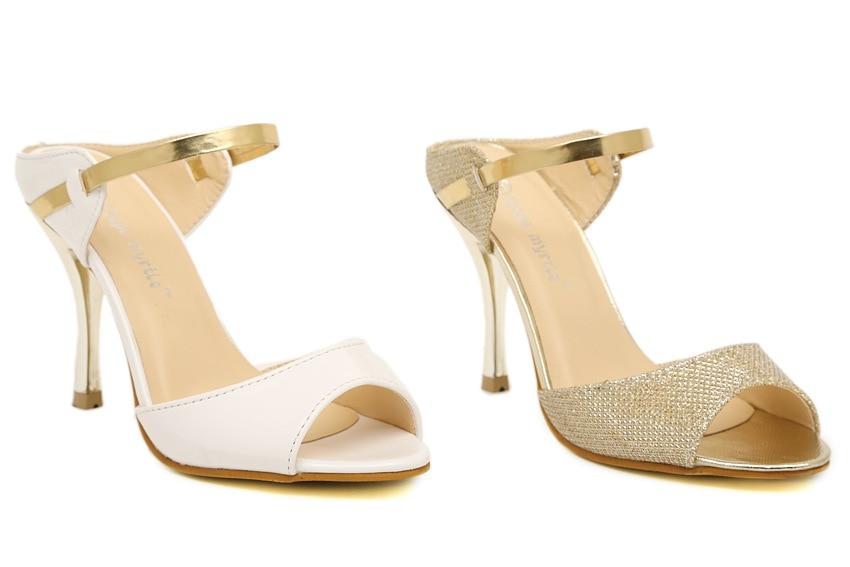 LAKESHI Summer Women Pumps Small Heels Wedding Shoes Gold Silver Stiletto High Heels Peep Toe Women Heel Sandals Ladies Shoes 3