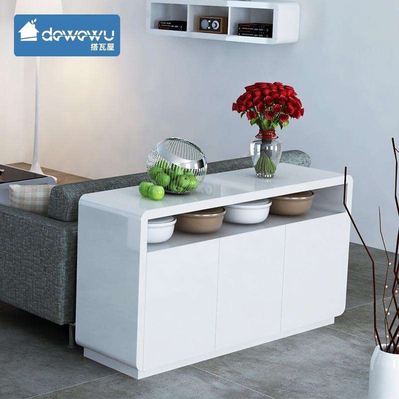 Armario Exterior ~ Tome azulejo aparador moderno lacado brillante blanco minimalista aparador de almacenamiento de