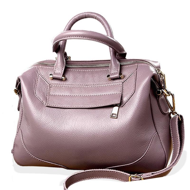 Women Handbag Genuine Leather Bag For Women Shoulder Bag Messenger Crossbody Handbags Cowhide Skin Minimalist Vintage Women Bags цена