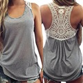 Women's Clothing Tops & Tees Tanks & Camis Fashion Women Summer Vest Top Sleeveless Casual Hollow Out Lace Tank Tops-Y107
