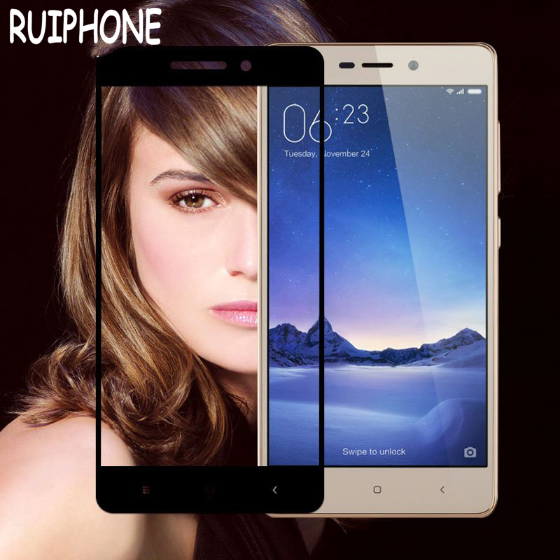 Tempered-Glass Xiaomi Redmi Screen-Protector Protective-Film 3-S-Phone For 3S Full-Cover