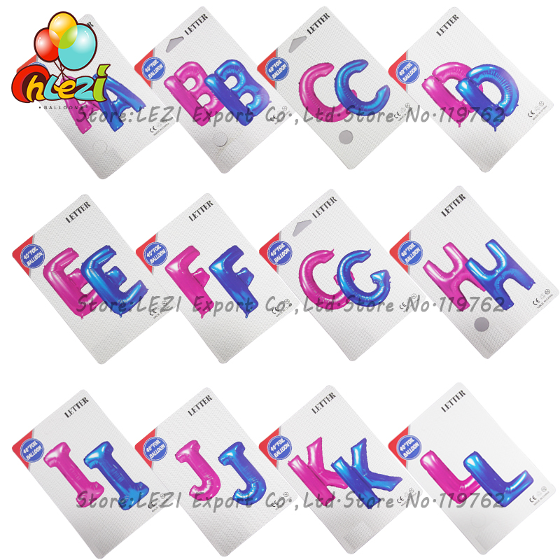 NEW 40 inch Pink Blue Foil Balloon Large Helium Letter Balloons Wedding Birthday Party Decoration Supplies Paper card packaging