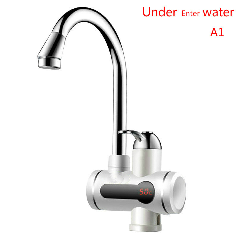 220V Instant Tankless Electric hot Water Heater Faucet Kitchen Instant Heating tap with LED Digital atwfs tankless water heater 220v 5500w thermostat digital electric heater kitchen