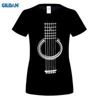 GILDAN Mens T Shirts Fashion Men Women Harajuku Hip Hop Brand Short Sleeve Tee Adult Guitar
