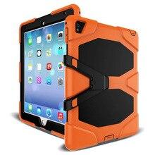 Tablet Case עבור iPad פרו 12.9 2017 2015 עמיד למים הלם לכלוך שלג חול הוכחת קיצוני צבא הצבאי Heavy Duty Kickstand כיסוי