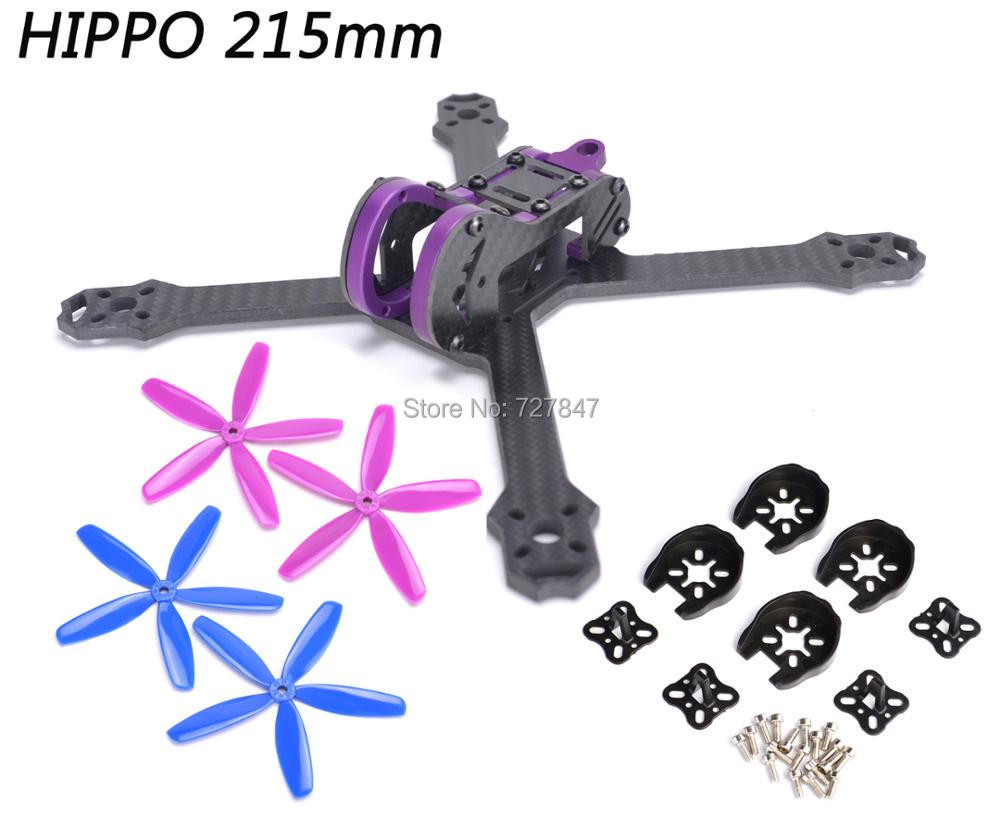 HIPPO 5 Inch 215mm 215 Pure Carbon Fiber Frame kit + 5045 4 blade Propeller for FPV RC cross racing drone quadcopter drone with camera rc plane qav 250 carbon frame f3 flight controller emax rs2205 2300kv motor fiber mini quadcopter