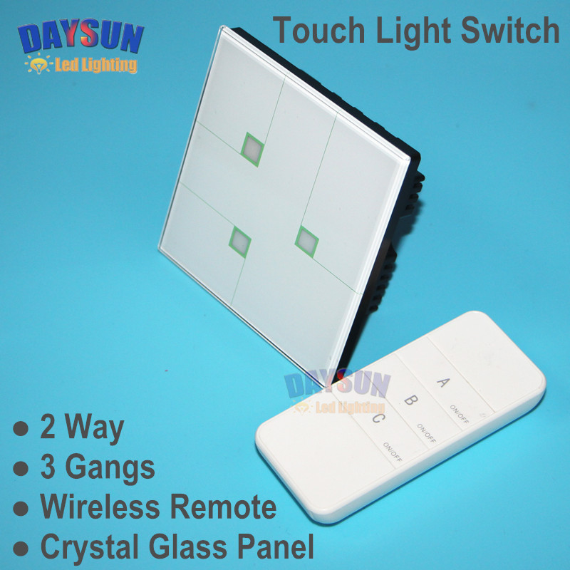 2017 New Smart Home Touch Switch with Remote White Crystal Glass Touch Screen Wall Switch 86*86mm High-end Hotel Light Switch smart home us black 1 gang touch switch screen wireless remote control wall light touch switch control with crystal glass panel