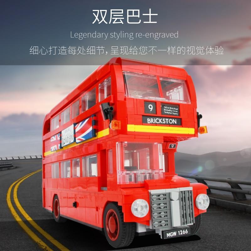 SY 1266 le Bus de londres Set blocs de construction 1716 pièces 10258 educaiton modèle cadeau d'anniversaire jouets pour enfants