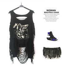 Top Cropped Sexy Tank Fashion Casual Punk Rock Pok Streetwear Hollow Out COOL Women's Clothing Clothes RTX706