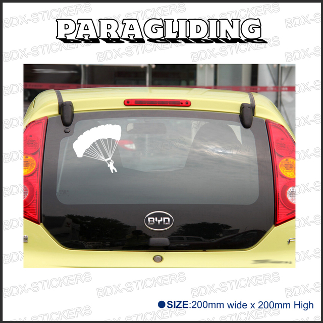 Free Shipping Paragliding Sport 1pc Vinyl Decal Sticker 20x20cm For