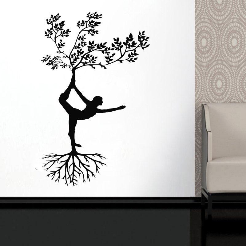 Silhouette Yoga Tree Pose Girl Woman Exercise Meditation
