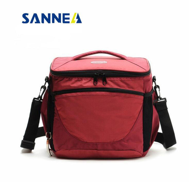 New SANNEA cooler bags oxord schoulder bags ice packs 17L thick insulation bags Insulation lunch bags  refrigeration packages