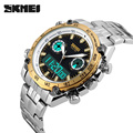 2017 Brand SKMEI Men Sport Watch Full Stainless Steel Waterproof Male Quartz Digital Dual Display Wristwatches Relogio Masculino
