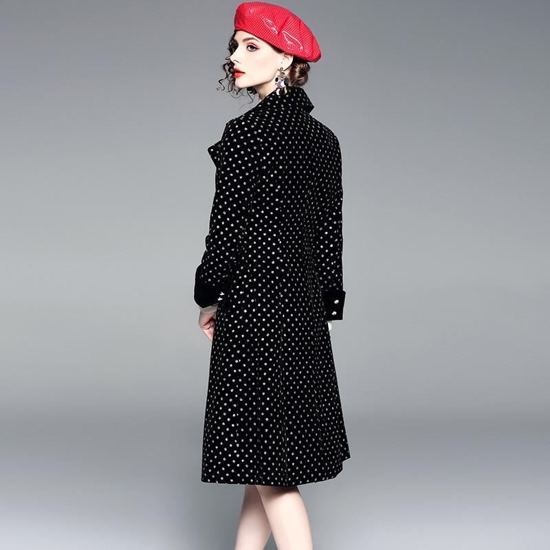 Haut Et Européen Revers Banlieue Boutonnage Robe Double Vague Gamme Américain Mode À Modèles De Automne Tempérament Femmes 2018 D'hiver qRYwE