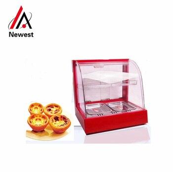 Vitrina de comida caliente para exhibición de alimentos soporte para promoción
