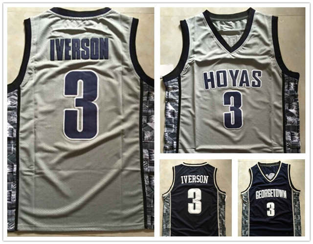 release date: 2855d 1b134 top quality #3 Allen Iverson Jersey NCAA Georgetown Hoyas ...