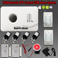 Smart ios Android app GSM Home Security Wireless and Wired Voice home GSM Alarm System Russian English 5 language