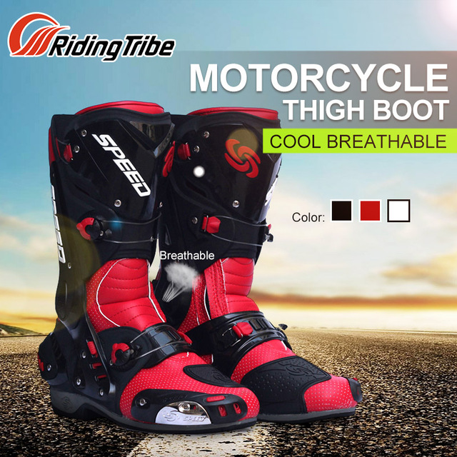 Riding Tribe Motorcycle Riding Boots Tribe Motocross Off road Racing Long font b Shoes b font