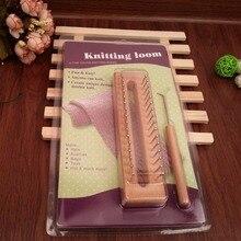Freies Verschiffen Holzbrett knitting loom einfach weaving werkzeug für kunsthandwerk hand