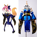 Fate/Extra CCC Caster Tamamo no mae Cosplay Costume Halloween Party All Set Beautiful Girl Female