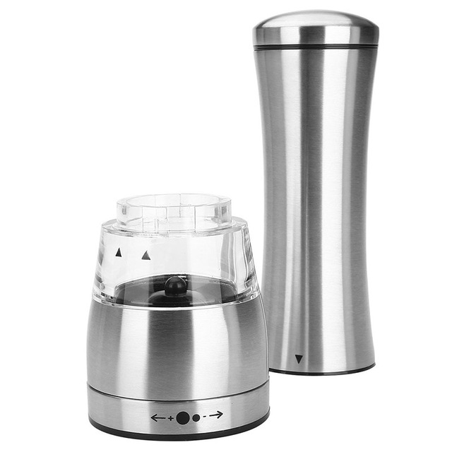 Silver Stainless Steel Spice Mill