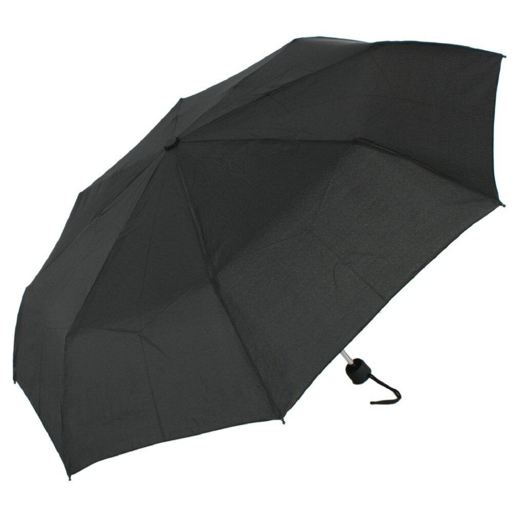 Susino Guarda-chuva ABERTO MANUAL de Viagem À Prova de Vento Impermeável Três Dobráveis De Metal eixo Tecido Pongee Compacto Chuvas Dos Homens Das Mulheres 2260