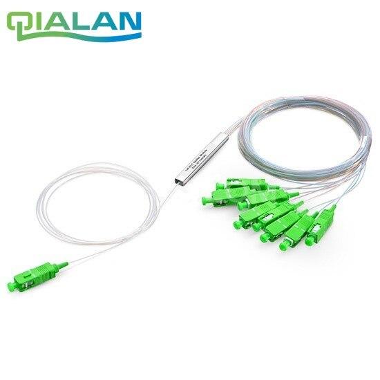 10 pièces 1x8 SC APC séparateur 8 canaux séparateur 2x8 LC APC Micro Type PLC séparateur de fibres optiques Mini Module