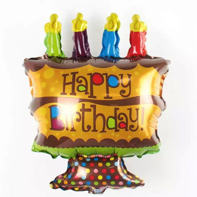 Aliexpress Buy Xxpwj Cute Aluminum Foil Balloons Happy