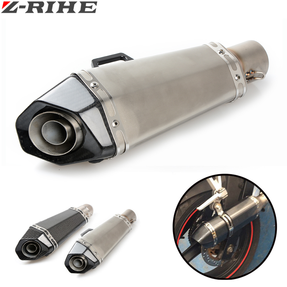 Motorcycle Scooter exhaust Modified Exhaust Muffler pipe FOR KAWASAKI YAMAHA MT07 MT09 MT 07 09 R1 R6 Z750 Z800 Z1000 er6n er6f микки маус уши мягкой apple границы s4 s5 силиконовый телефон случае samsung note3 iphone6 5s митч