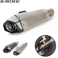 Motorcycle Scooter exhaust Modified Exhaust Muffler pipe FOR KAWASAKI YAMAHA MT07 MT09 MT 07 09 R1 R6 Z750 Z800 Z1000 er6n er6f