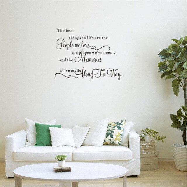 les meilleures choses stickers muraux amovible anglais mots chambre salon canap fond papiers. Black Bedroom Furniture Sets. Home Design Ideas