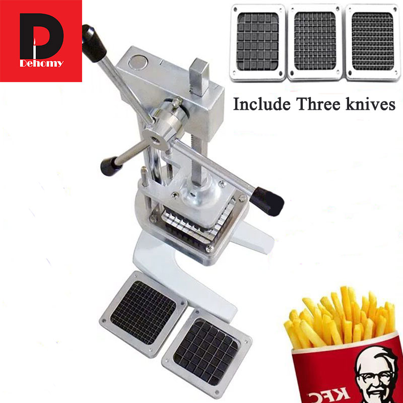 Dehomy ручные ножи для картофеля фри из алюминиевого сплава, вертикальные, ручной резки, многофункциональные картофельные ножи, редис, огурец, таро - 3