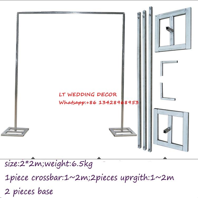 2 M * 2 M boda galvanizados metal boda telón de fondo/Drap soporte ...